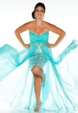 Fabulouss Plus Size 76288F.  Available in Aqua, Hot Pink