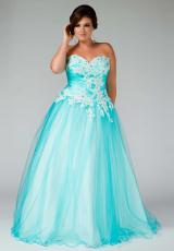 Fabulouss Plus Size 76429F.  Available in Aqua, Lilac