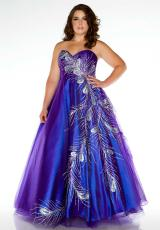 Fabulouss Plus Size 81765F.  Available in Purple/Peacock