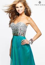 2014 Faviana Beaded Bodice Prom Dress 7300