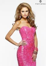2014 Faviana Fully Sequins Prom Dress S7374