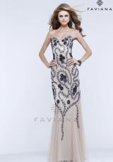 Faviana S7381.  Available in Nude/Navy
