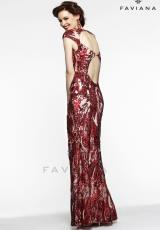 Faviana S7382.  Available in Latte/Nude , Red/Nude