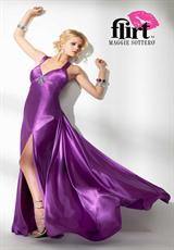 2014 Flirt Open Back Prom Dress P4601