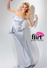 Long Strapless 2012 Flirt Prom Dress P4633