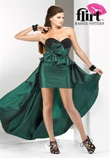 Flirt P5626T.  Available in Emerald Green/Black, Peacock Blue/Black
