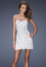 La Femme Short 20054.  Available in Black/Nude