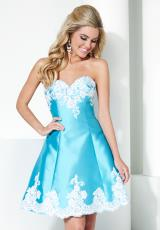 Hannah S 27946.  Available in Ivory/Pink, Turquoise/Ivory