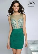 JVN by Jovani JVN20379.  Available in Black, Blush , Fuchsia , Teal