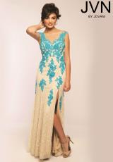 JVN by Jovani JVN22484.  Available in Black/White, Nude/Aqua, Nude/Black, Nude/Red