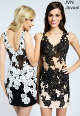 JVN by Jovani JVN99387.  Available in Black/White , Nude/Black, Red/Nude