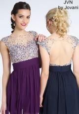 JVN by Jovani JVN99490.  Available in Fuchsia , Navy, Purple