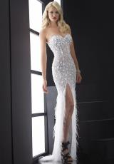 Jasz Couture 4826.  Available in Aqua, Fuchsia, Nude, Royal, White