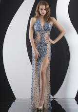 Jasz Couture 4973.  Available in Black/Nude, Nude/Aqua