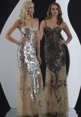 Jasz Couture 4976.  Available in Nude/Black, Nude/Silver