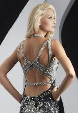 Jasz Couture 4979.  Available in Black/Sil, Champ/Silver