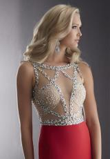 Jasz Couture 5045.  Available in Black/Silver, Ivory/Silver, Red/Silver