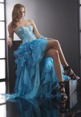 Jasz Couture 5074.  Available in Turquoise, White