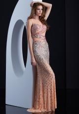Jasz Couture 5412.  Available in Black/Gold, Peach