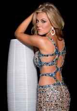 Jasz Couture 4109C.  Available in Nude/Turquoise, Red/Multi, Royal/Silver