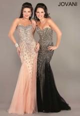 Jovani 6837.  Available in Black/Gold, Blush/Silver