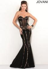 Jovani 7048.  Available in Black/Print, Black/Rainbow