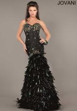 Jovani 1252.  Available in Black/Multi