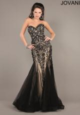 Jovani 5913.  Available in Black/Nude, Off White/Nude, Taupe/Nude