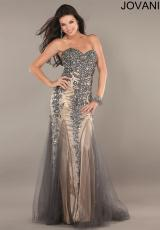 Jovani 1676.  Available in Black/Nude, Grey/Nude, Red