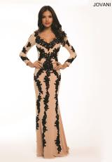 Jovani 20578.  Available in Black/White, Nude/Black