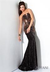 Jovani 17100.  Available in Black/Brown
