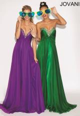 Jovani 88034.  Available in Emerald, Purple, White