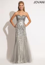 Jovani 78164.  Available in Grey, Red, Turquoise