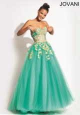 Jovani 88342.  Available in Black/Gold, Blush/Gold, Ivory/Gold, Jade/Gold , Navy/Gold