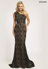 Jovani 98868.  Available in Black/Nude
