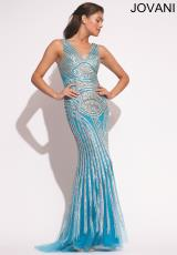 Jovani 92001.  Available in Cafe, Turquoise