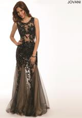 Jovani 24551.  Available in Black/Nude, White/Nude