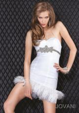 2012 Short Organza Jovani Homecoming Dress 5642