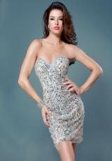 2012 Short Strapless Jovani Homecoming Dress 6125