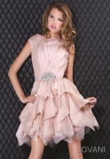2012 Short Sleeved Jovani Homecoming Dress 6691