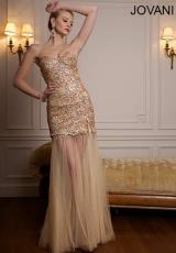 2014 Jovani Champagne Prom Dress 73056