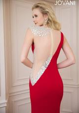 Jovani 74457.  Available in Black/Nude, Red/Nude