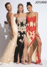 Jovani 91084.  Available in Black/Nude, Nude/Red, Nude/White