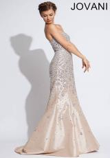 Jovani 78632.  Available in Silver/Nude