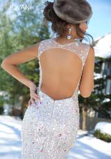 2014 Jovani Silver Long Prom Dress 92367