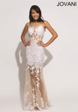 Jovani 88431.  Available in Black/Nude, White/Nude