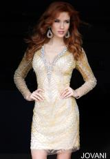 Jovani Cocktail 20632.  Available in Gold