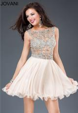 Jovani Cocktail 77893.  Available in Coral, Mint, Nude
