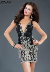 Jovani Cocktail 90308.  Available in Black