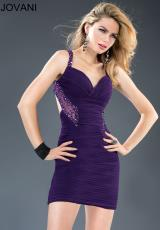 Jovani Cocktail 90361.  Available in Purple, Taupe
